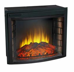 "24"" Curved Electric Fireplace Insert - Firebox with Heater c"