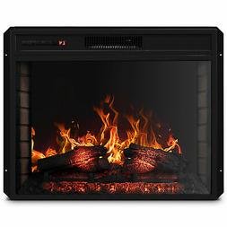 """28"""" 1400W Mounted Electric Fireplace Insert Stove Heater W/R"""