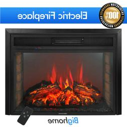 2019 Embedded 28'' Electric Fireplace Adjustable Flame Inser