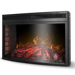 """DELLA 33"""" Electric Fireplace Insert Freestanding & Recessed"""