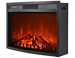 3G plus Electric Fireplace Insert Heater Carbon Log Fuel Eff