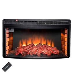 "AKDY 35"" Freestanding Insert Multi Level Heat Electric Firep"