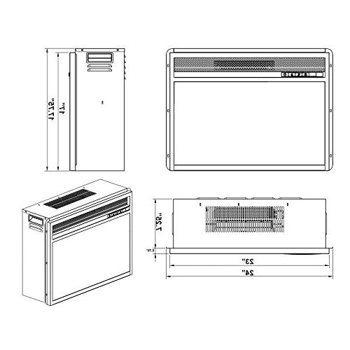 AKDY 23 AK-EF05-23R Electric Insert W/Remote