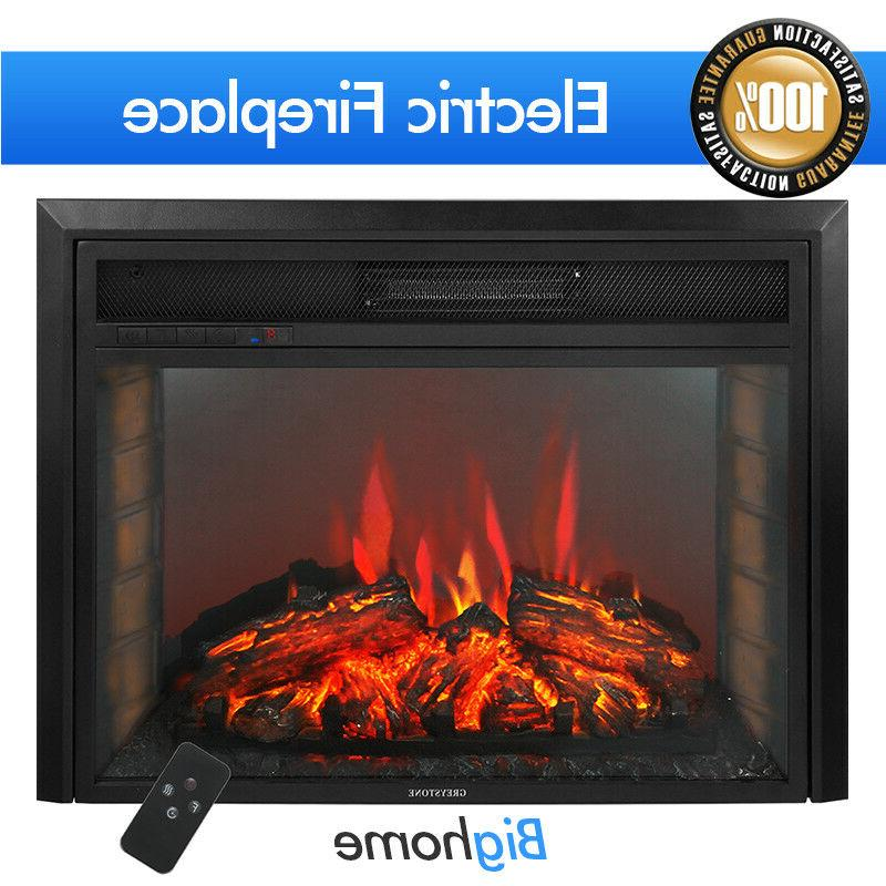28 electric fireplace adjustable flame insert embedded