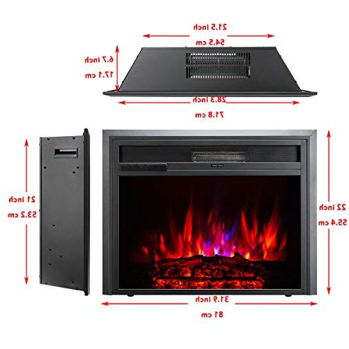 TAGI Embedded Electric Fireplace Recessed Electric Stove Heater with Remote Control