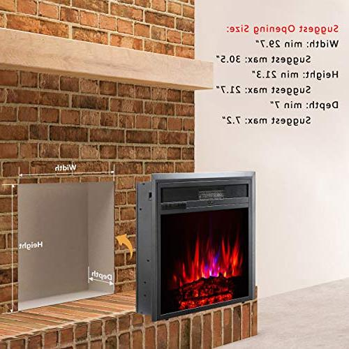 TAGI 30'' Electric Fireplace Stove Heater with Control