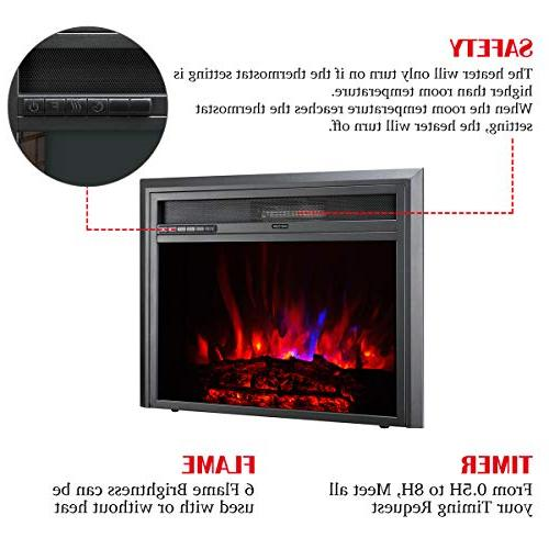 TAGI 30'' Electric Fireplace Insert, Stove Heater with Control