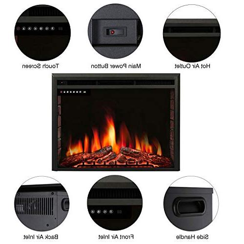 """R.W.FLAME 36"""" Stove Heater,Touch Screen,Remote with & Flame"""