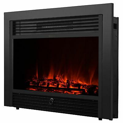 XtremepowerUS Wall Mount Electrical Fireplace Insert Embedde
