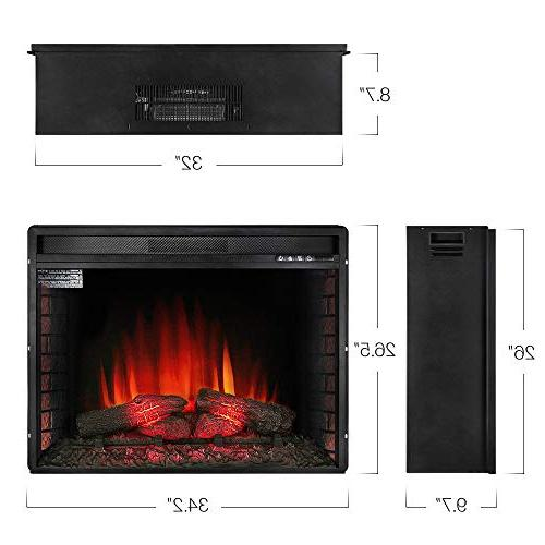 Allsees Electric Insert Heater Glass View Log w/Remote,