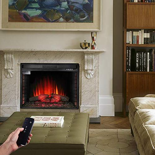 Allsees Electric Heater Freestanding Log Flame