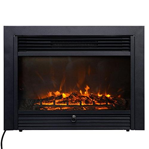 Giantex Insert with View Log Flame with Remote Control