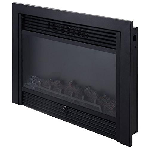 "Giantex 28.5"" Fireplace Insert View Log Flame Remote Control Home"