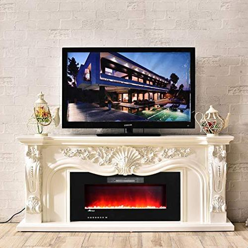 BestComfort Wall Mounted Electric with Remote Electric Fireplace