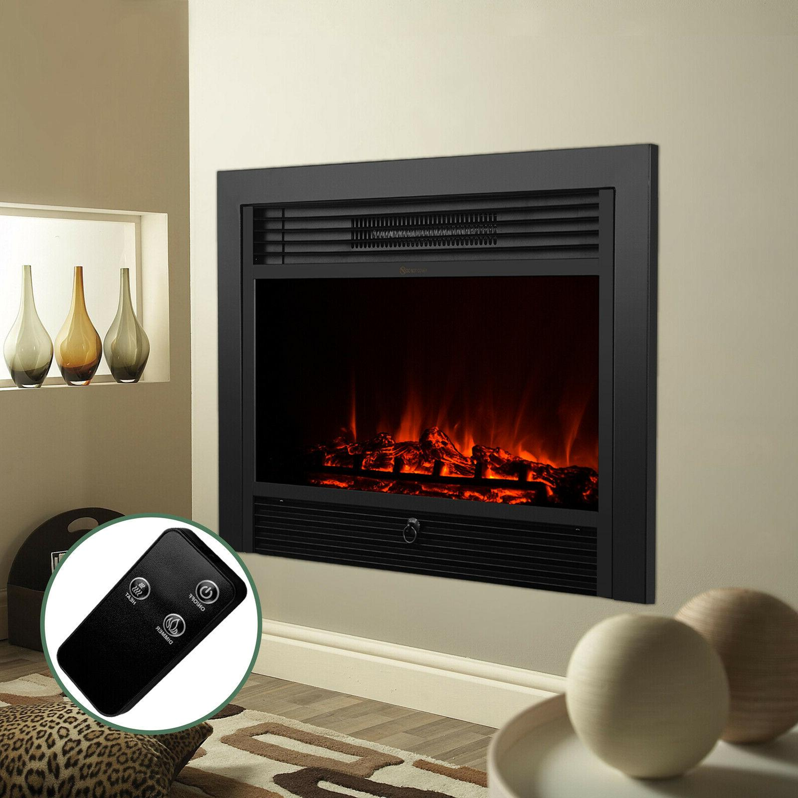 embedded electric insert heater fireplace