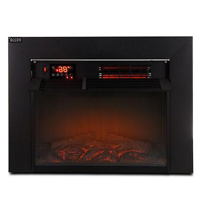 Della© Embedded Fireplace Electric Insert Heater View w/