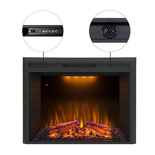 Valuxhome Embedded Fireplace Electric Fire Crackler