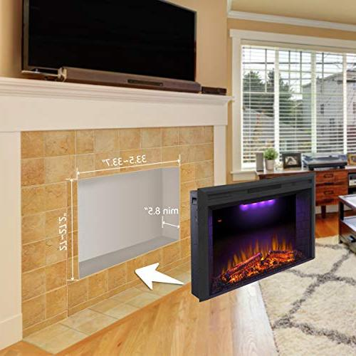 Valuxhome Houselux Embedded Fireplace Electric Fire Crackler Sound