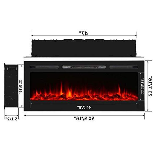 Homedex Electric Fireplace Insert Touch Screen Control