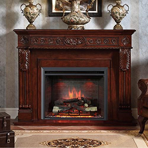 PuraFlame Fireplace with Remote Control, 750/1500W,