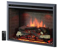 """PuraFlame 30"""" Western Electric Fireplace Insert with Remote"""